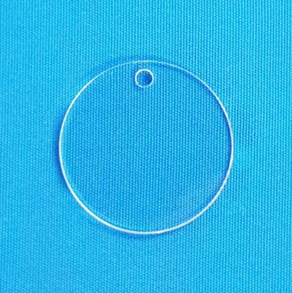50 Clear Acrylic Keychain Blanks 2 5 Circle X 1 8