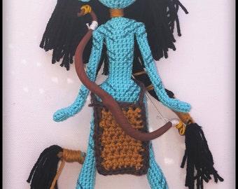 Neytiri! Avatar. Entirely handmade crochet and paw FIMO