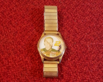 Vintage Watch Wrist Watch NASCAR Rusty Wallace Signature Series By Suntime Speidel