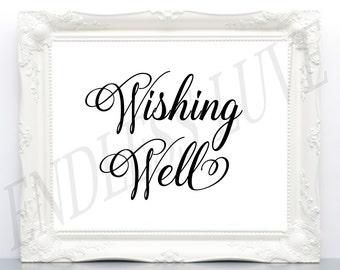 Wishing Well Wedding Sign - Wishing Well Sign - Wishing Well Signs - Wedding Signs - Printable Wedding Signs - Wedding Decor Signs