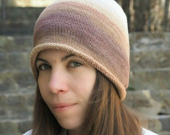 Knitted hat - Knitted beanie - Cotton beanie - Degrade beanie - Boho style - Unisex hat