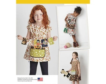 Simplicity 8101 A Sewing Pattern New / Unused Vintage Toddler Child Dress Summer Spring Child Sewing Outfits Clothing Frock Pockets Tunic