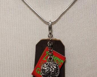 Zombie Survival Guide Charm Pendant