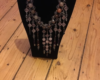 Silver plated Multi-coloured Quartz and Haematite WOW Necklace You'll stand out from the crowd when you wear this!!!