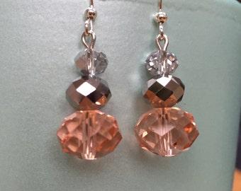 Stunning crystal drop earrings