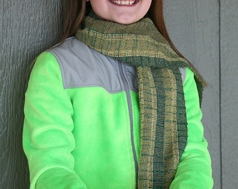 Green Sparkles and Glitter scarf