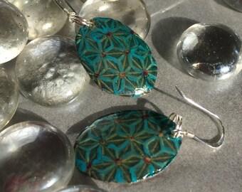 turquoise hand painted geometric mediterranean