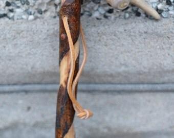 Dear antler hiking cane or walking stick by Martin Fischer.