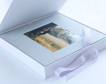 Mounting photos in the mat boards