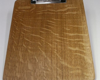 Clip Board or Clipboard from Quarter sawn White Oak Lumber with counter sunken screw posts