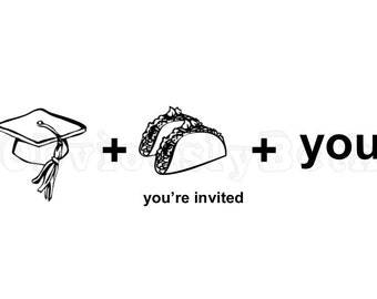 High School Graduation Taco Invitation
