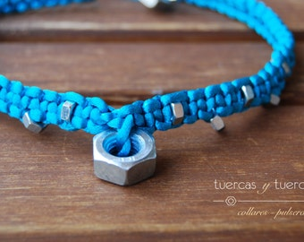 bright blue nuts necklace