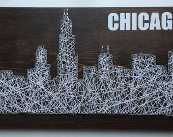 Chicago Skyline String Art - Custom Made to Order