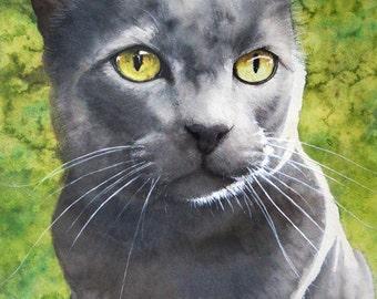 8x10 Custom Watercolour Pet Portrait