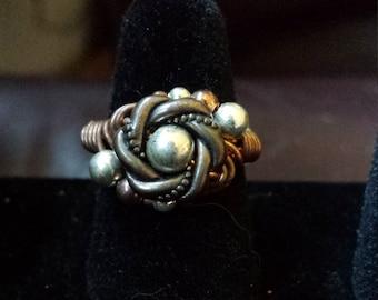 Ring - Copper Rosette Sz. 6