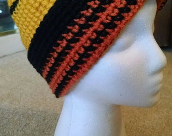 Large Versatile Crocheted Beanie