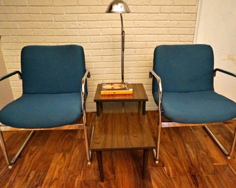 Mid Century Modern Chrome Pipe Chairs
