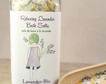 Relaxing Lavender-Calendula Bath Salts. Soothing bath salts. Natural ingredients include our home-grown lavender and calendula.