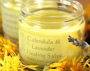 Calendula & Lavender Healing Salve. Gentle healing salve. Using home grown calendula-lavender buds for your well-being.