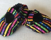 Multi Colored Striped Mary Janes
