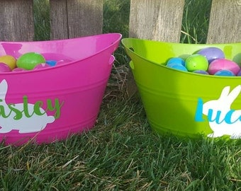 Easter Basket Decal, DIY, Personalized Easter Basket, Monogram Easter Basket,  Does not include basket