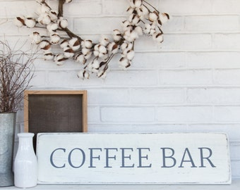 "Coffee sign | rustic wood sign | coffee wood sign | rustic wall decor | 27"" x 7.25"""