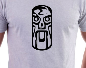 T-shirt with Tribal Art Mask
