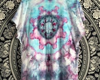 Mandala-Inspired Tie-Dye Shrug, size Large