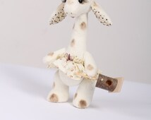Little Giraffe Teddy machinery-art-collectible dolls-handmade doll-Animals in nature-Soft Doll-Home Decoration-Gift