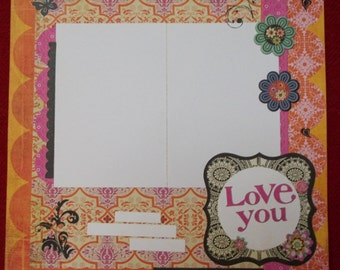 Love; Love you page; love you 12x12 scrapbook page; love 12x12 layout