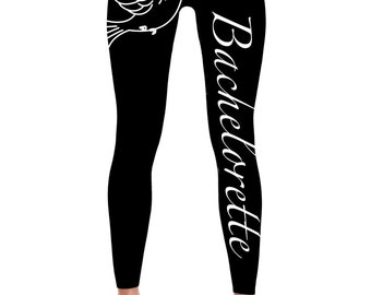 Bachelorette Leggings -Bride Leggings- Bachelorette party Leggings - Bridal - Wedding