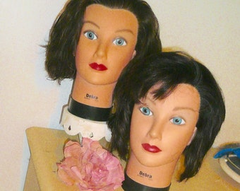 Mannequin Head Hair Styling Beauty School Display Photo Prop Hat Prop by VintageReinvented