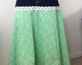 JS Vintage Green Skirt