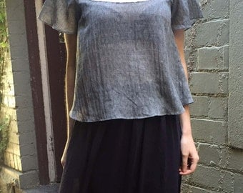 Lace Grey Top