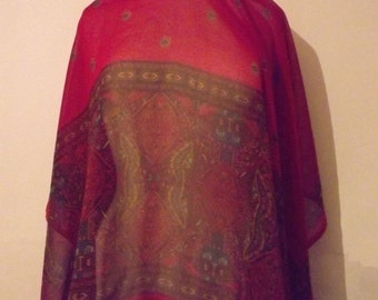 LAST CHANCE! Vintage Asian Veil/Scarf With Paisley Print