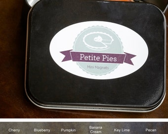 Set of 4 Petite Pies Mini Magnets