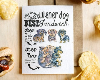 Dachshund Card for Wiener Dog Lovers