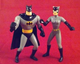 Batman Catwoman Mask of the Phantasm Animation Action Figure Vintage Miniature 1993 McDonald's Happy Meal DC Comics Promotional Kids Toy