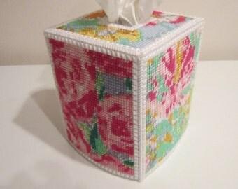 Floral Tissue Box