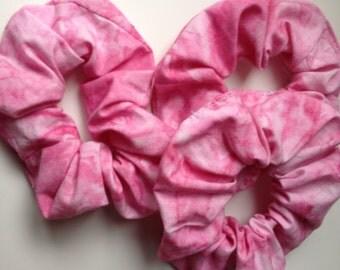 Scrunchie, tie dye pink, 90s