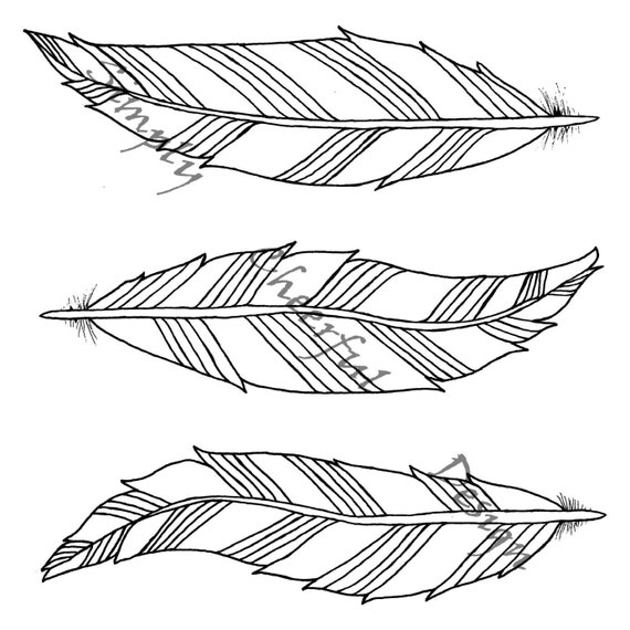 Feather coloring page 3 aztec feathers printable coloring for Coloring pages of feathers