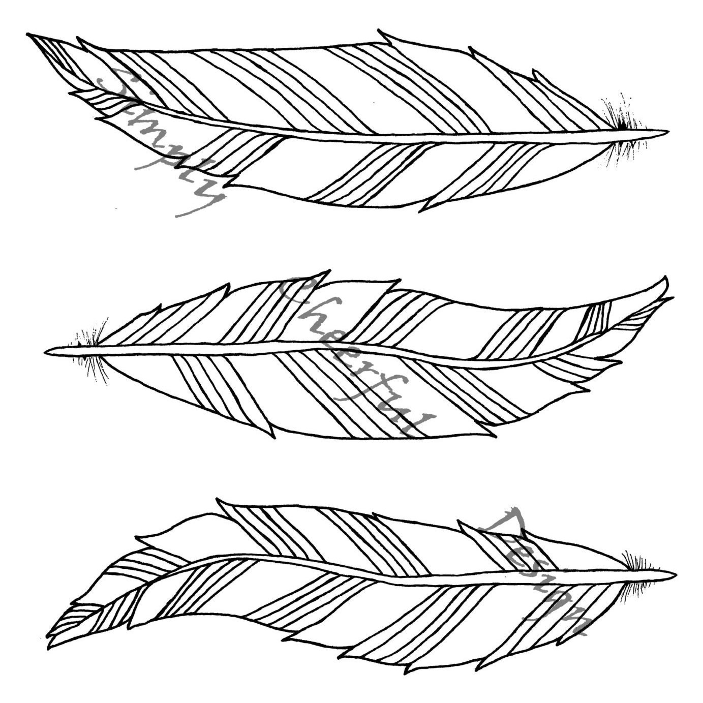 Aztec Coloring Pages Pdf : Feather coloring page aztec feathers printable