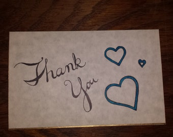 Handwritten Thank You Card w/ Red Wax Sealed Envelope