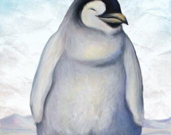 Baby Penguin Giclee Print