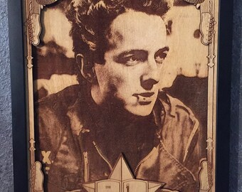 Joe Strummer - The Clash - Laser Engraved Portrait