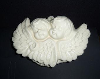 Ceramic Angels Trinket Box - Large Covered Trinket Box