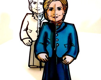 Hillary Clinton for President Paper Doll Set - Printable