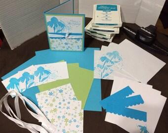 Card Making Kit, Hand Stamped Card Kit, Card Kit, Birthday Card Kit, Pre-Stamped Card Kit, Stampin Up Card Kit