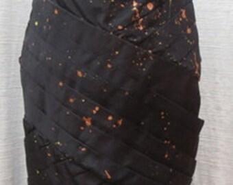 BANANA MOON CUSTOM Vintage Taffeta Strapless Floor Length Dress Size: Small DRS074