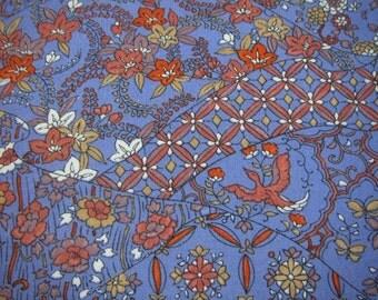 Vintage Japanese kimono/a roll cloth/wool/fabric/phoenix/chinese bellflower/purple/hexagonal pattern/cloisonne pattern/handmade